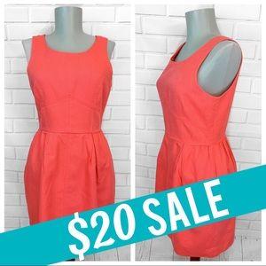 J. Crew • Peach Linen Dress